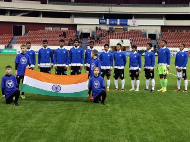Indian U-17 football team. Twitter@IndianFootball