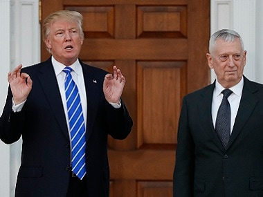 James Mattis with President-elect Donald Trump. AP