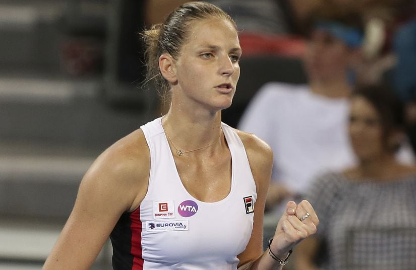 Karolina Pliskova had the perfect preparation by winning the lead-up Brisbane International, which helped her climb the rankings to five. AP