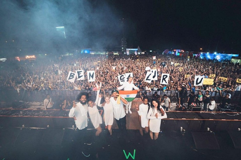 Major Lazer at the Mad Decent Block Party in Bengaluru last year