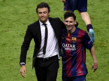 "Luis Enrique believes that Messi has evolved into ""total footballer."" AFP"
