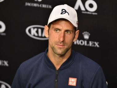 Novak Djokovic speaks during a press conference after his defeat against Denis Istomin. AFP