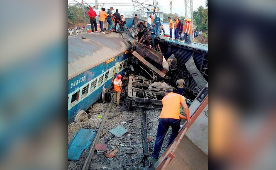 The incident took place around 11.30 pm when the train was going from Jagdalpur (Chhattisgarh) to Odisha capital Bhubaneswar. PTI