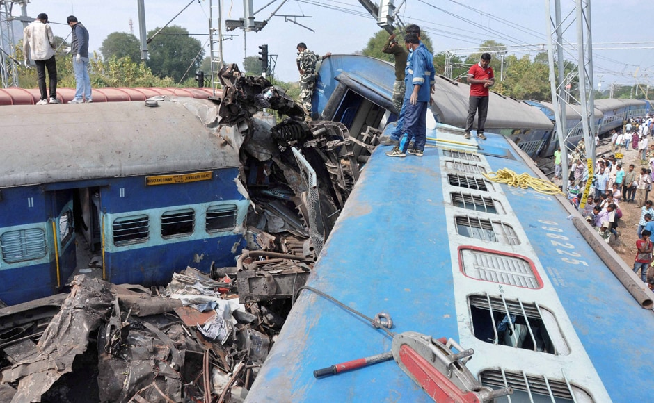 Prabhu ordered an inquiry into the train mishap and announced ex-gratia of Rs two lakh each for the kin of those killed in the derailment. PTI