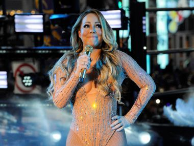 Mariah Carey performs during a concert in Times Square on New Year's Eve. Reuters