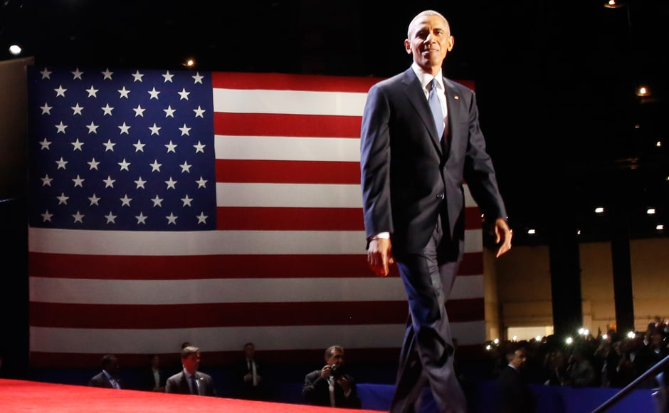 US President Barack Obama gave his farewell speech in Chicago, Illinois, US on Tuesday. Reuters