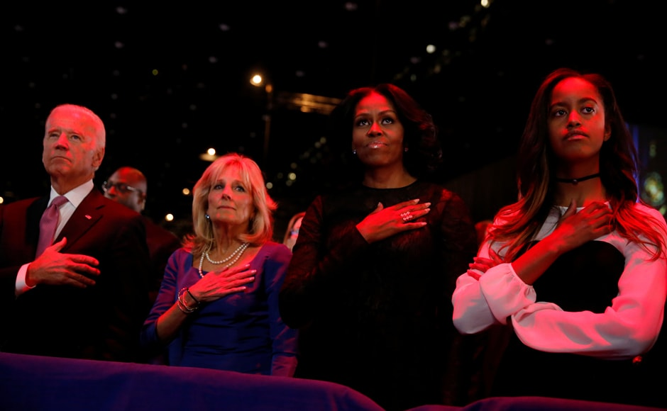 US Vice President Joe Biden and his wife Jill Biden also accompanied the first family to Obama's farewell speech in Chicago on Tuesday. Reuters