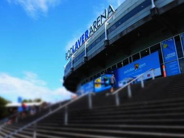 General view of Rod Laver Arena during the Australian Open at Melbourne Park. Getty