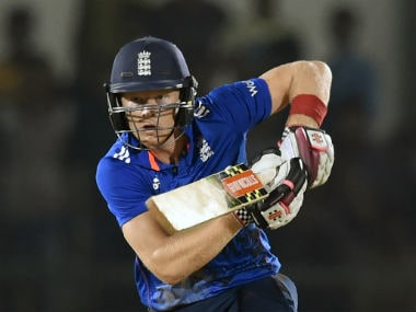 Sam Billings in action during his match-winning 93 in the warm-up match against India A. AFP