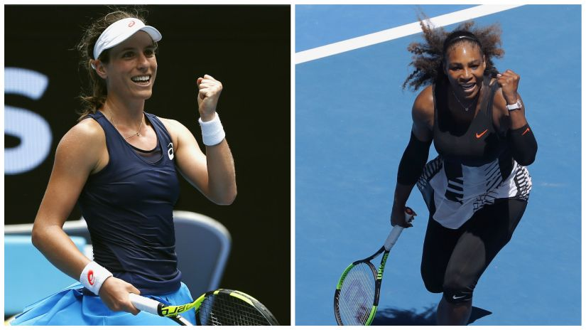 Serena Williams will play Johanna Konta for a place in the semis. Reuters