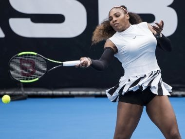Serena Williams in action in Auckland. AP