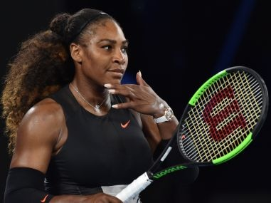 Serena Williams of the US at the Australian Open. AFP