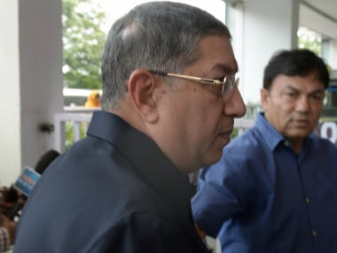 File photo of former BCCI chief N Srinivasan. AFP