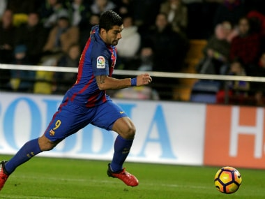 Luis Suarez during the draw against Villareal. Reuters