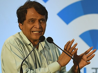File photo of Railway Minister Suresh Prabhu. AFP