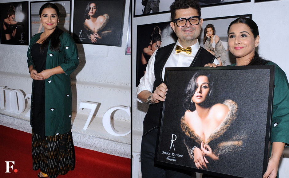 Vidya Balan unveils her look in Dabboo Ratnani's calendar with the celebrity photographer by her side. Sachin Gokhale/Firstpost