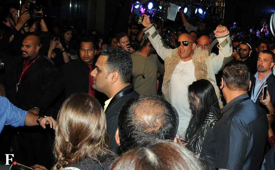 Vin Diesel makes a grand entry. Sachin Gokhale/Firstpost