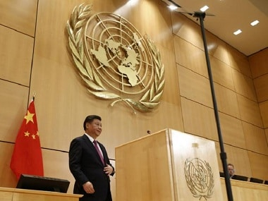 Chinese President Xi Jinping at United Nations. Reuters