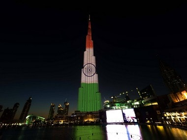 Narendra Modi in UAE: Dubai's Burj Khalifa lights up with Tricolour to mark Indian PM's second visit