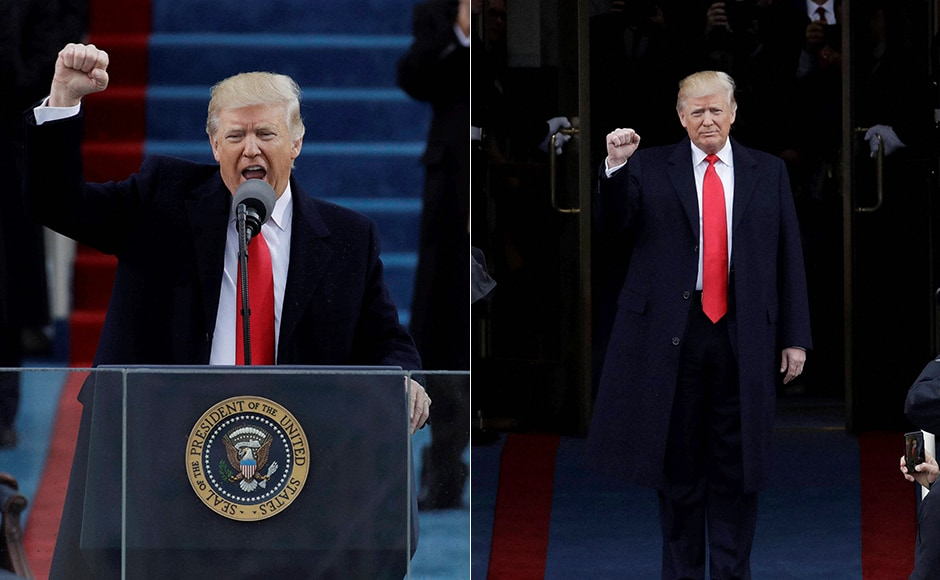 Trump, 70, took the oath of office in front of about 800,000 people who braved chilly weather to gather on the National Mall in the center of the capital. Trump was officially sworn in as the 45th POTUSat the US Capitol in Washington. AP