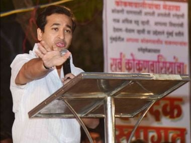 Congress MLA Nitish Rane. Photo courtesy: Twitter/@NiteshNRane