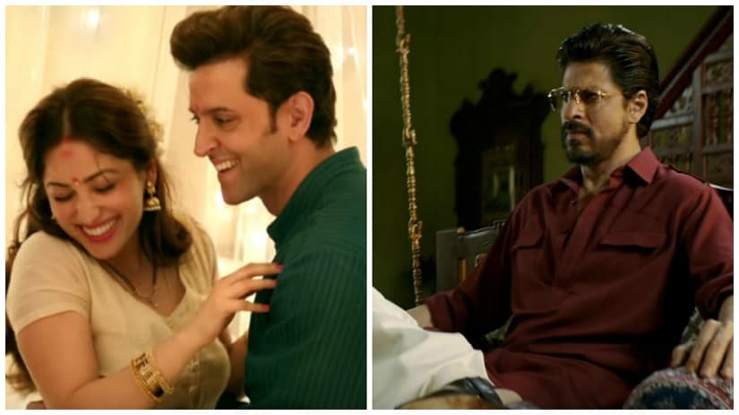 Stills from Kaabil (L) and Raees (R)
