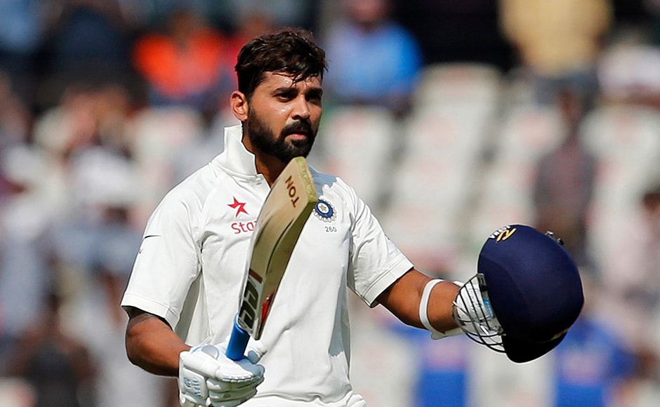Murali Vijay went on to score a ton on the first day of the one-off Test. AP
