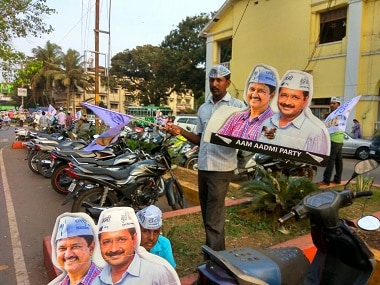Posters of AAP leaders in Goa. Photo courtesy: David Devadas.