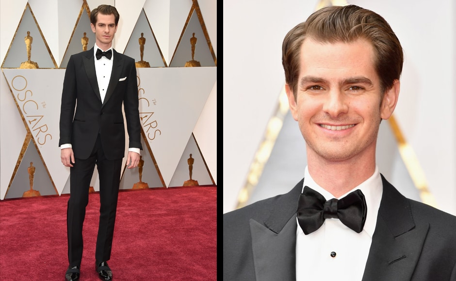 Andrew Garfield arrives at the Oscars on Sunday, Feb. 26, 2017, at the Dolby Theatre in Los Angeles. (Photo by Jordan Strauss/Invision/AP)