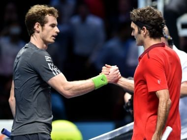 File photo of Switzerland's Roger Federer and Britain's Andy Murray. AFP