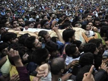 Hizbul commander Burhan Wani's funeral in July was attended by thousands of Kashmiris. Reuters