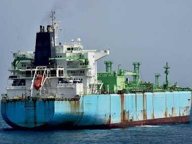 The ship M T BW Maple which collided with a cargo ship leading to oil spill in Eastern coast, in Chennai on Friday. PTI