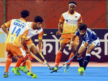 Scenes during the clash between Dabang Mumbai and Kalinga Lancers. PTI