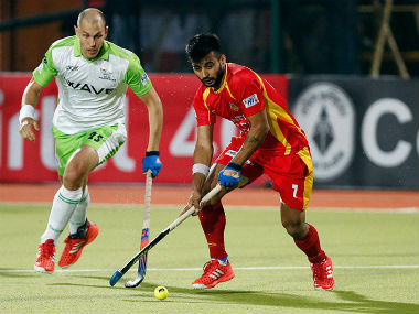 Delhi Waveriders are in search of their first win of the tournament. Image credit: Twitter/@HockeyILeag