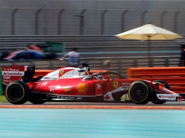 Ferrari's Sebastian Vettel drives during a practice session. Reuters