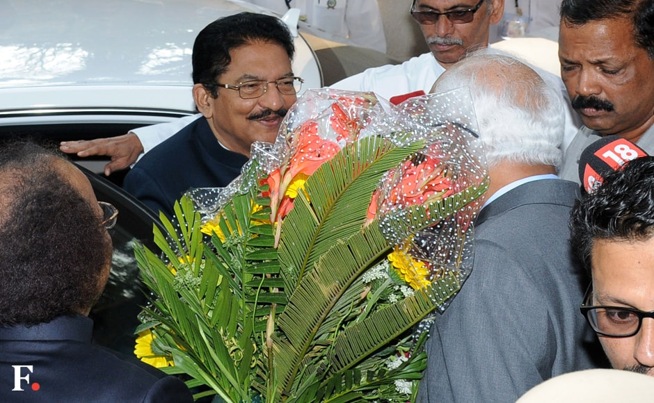 Maharashtra Governor CH Vidyasagar Rao being welcomed at the Institute of Chemical Technology. Sachin Gokhale. Firstpost.