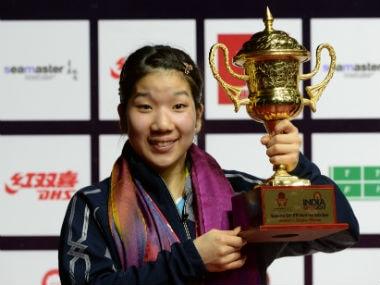 Sakura Mori of Japan overcame Swedish rival Ekholm Matilda to win the women's singles title. AFP