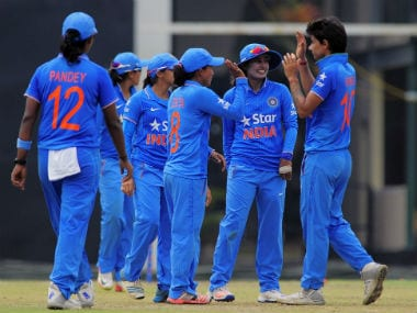 Mithali Raj-led India continued its unbeaten run with this win. Image courtesy: BCCI women via Twitter