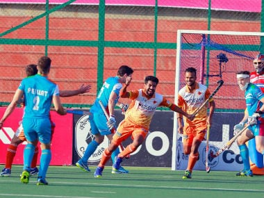 Kalinga Lancers win 4-3 in penalty shootout to enter the final. Twitter: @HockeyIndiaLeag