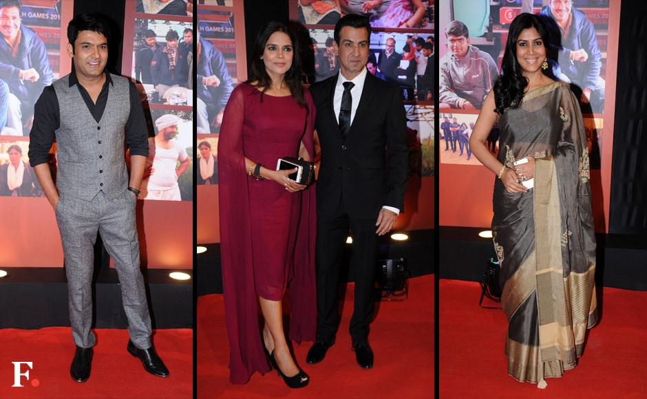 Kapil Sharma, Ronit Roy with wife, Sakshi Tanwar. Sachin Gokhale/Firstpost