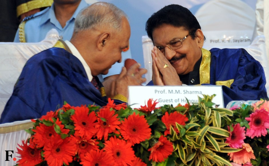 The governor exchanges greetings with Mashelkar. Sachin Gokhale. Firstpost.