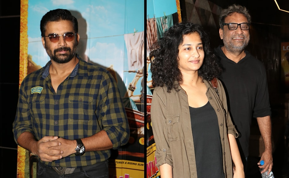 R Madhavan was among the guests at the screening, as were filmmakers R Balki and Gauri Shinde.