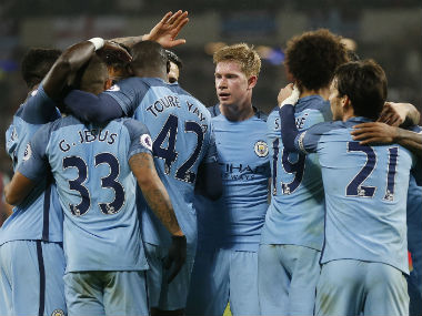 File photo of Manchester City. AP