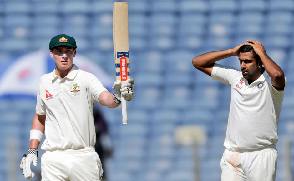 Matt Renshaw brought up a brave 68 in his first innings outside home soil. AP