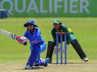 Mithali Raj top-scored for India with an 85-ball 64. Image courtesy: ICC official Twitter account