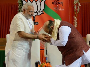 Prime Minister Narendra Modi with BJP national president Amit Shah. AFP
