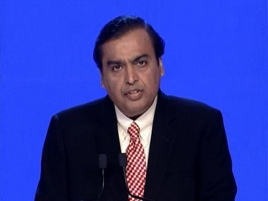 Mukesh Ambani at Reliance Jio media conference on Tuesday