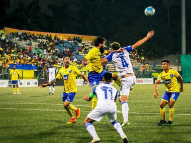 Bengaluru FC were held by a resilient Mumbai FC side. Image Credit: Twitter: @ILeagueOfficial