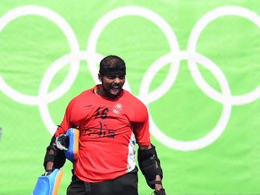 India's goalkeeper Sreejesh Parattu during the Rio 2016 Olympics. AFP