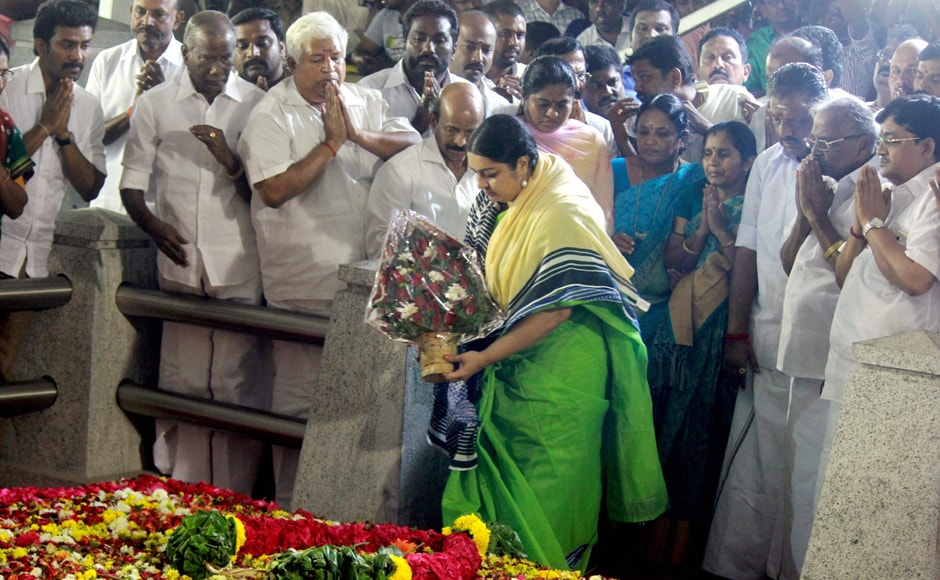 Deepa, after paying tribute to her late aunt, openly came out in support of Panneerselvam. PTI